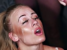 Blonde bukkake wife whore