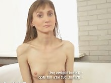 hd brunette slim petite bald-pussy small-tits doggy-style reverse-cowgirl cumshot